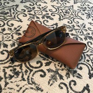 Honey RayBan Wayfarer Sunglasses